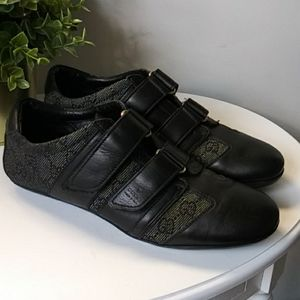 Gucci Velcro monogram GG sneakers leather black